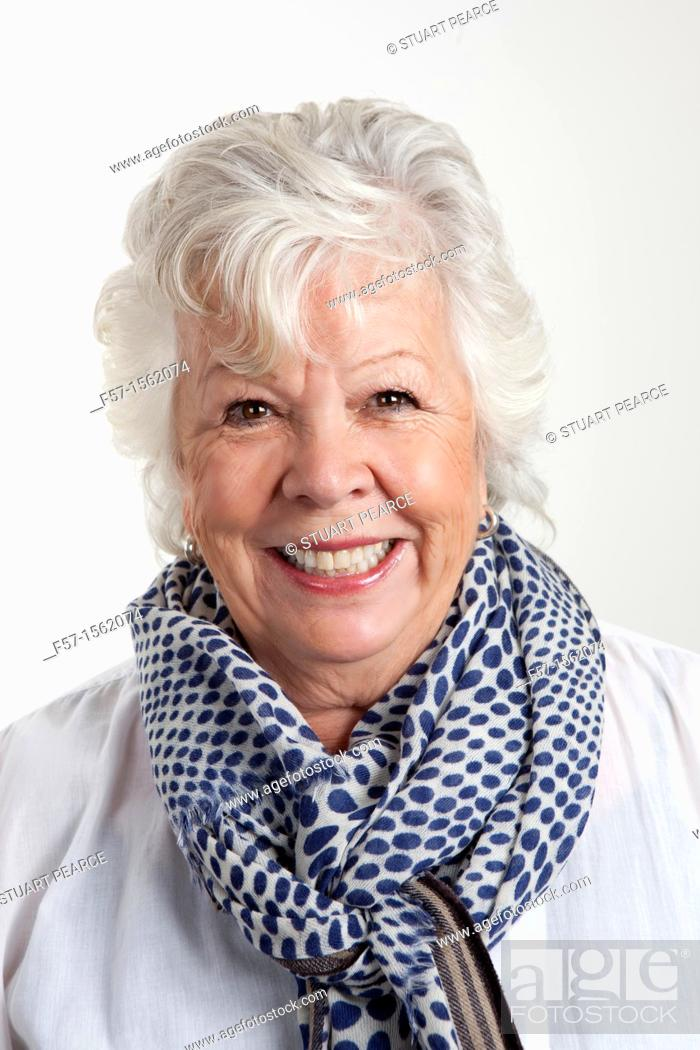 Stock Photo: Portrait of a seventy year old woman.