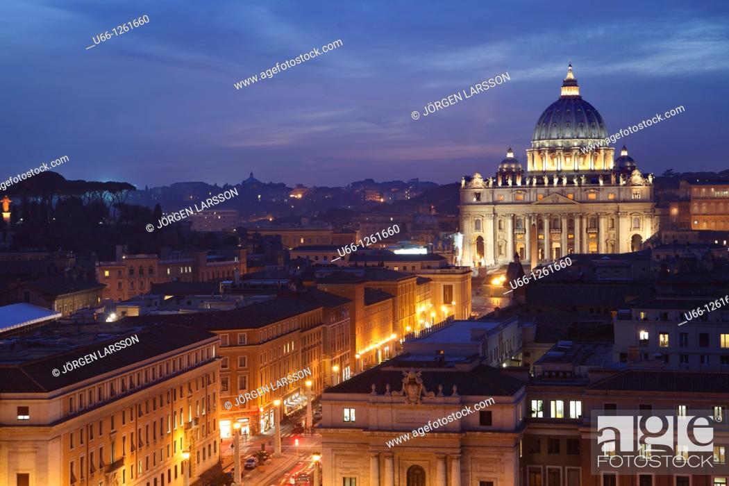 Stock Photo: St. Peter's Basilica, Rome, Italy.