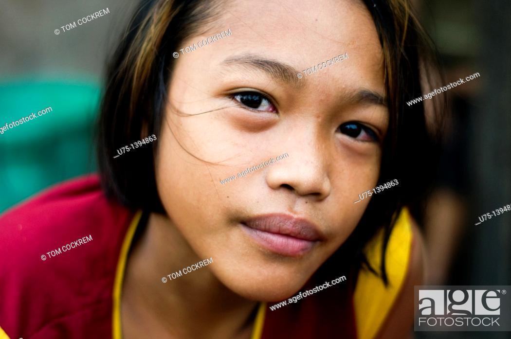 Stock Photo: Boy in Jaro, Iloilo, Panay, Philippines.