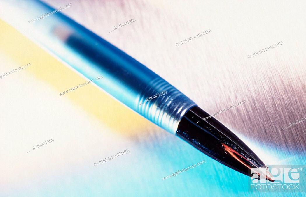 Stock Photo: A ball pen.