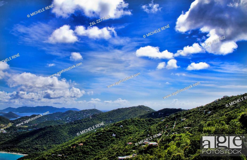 Photo de stock: View of caribbean in St Thomas, US Virgin Islands.