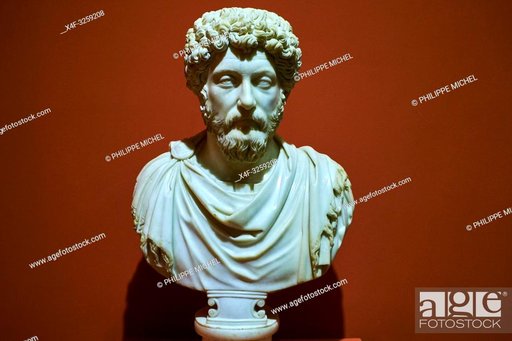 Stock Photo: Turkey, Izmir province, Selcuk city, archaeological site of Ephesus, museum, Marcus Aurelius statue.