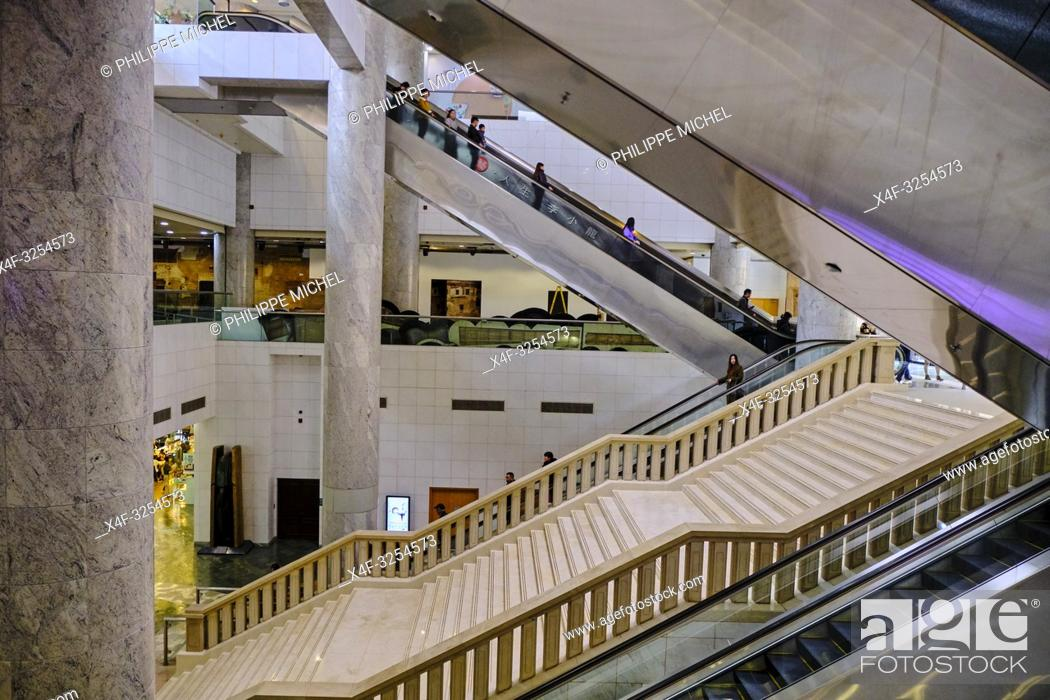 Stock Photo: Chine, Hong Kong, Kowloon, Heritage museum de Hong Kong / China, Hong Kong, Kowloon, Hong Kong Heritage Museum.