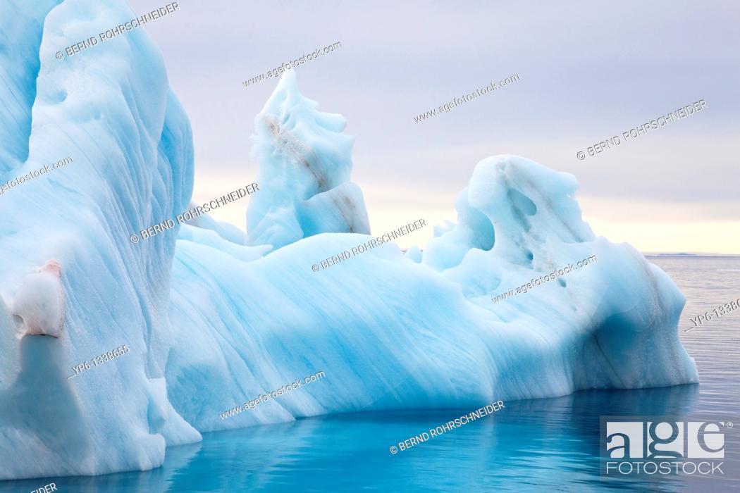 Stock Photo: iceberg drifting in Arctic Sea, Spitsbergen, Svalbard.