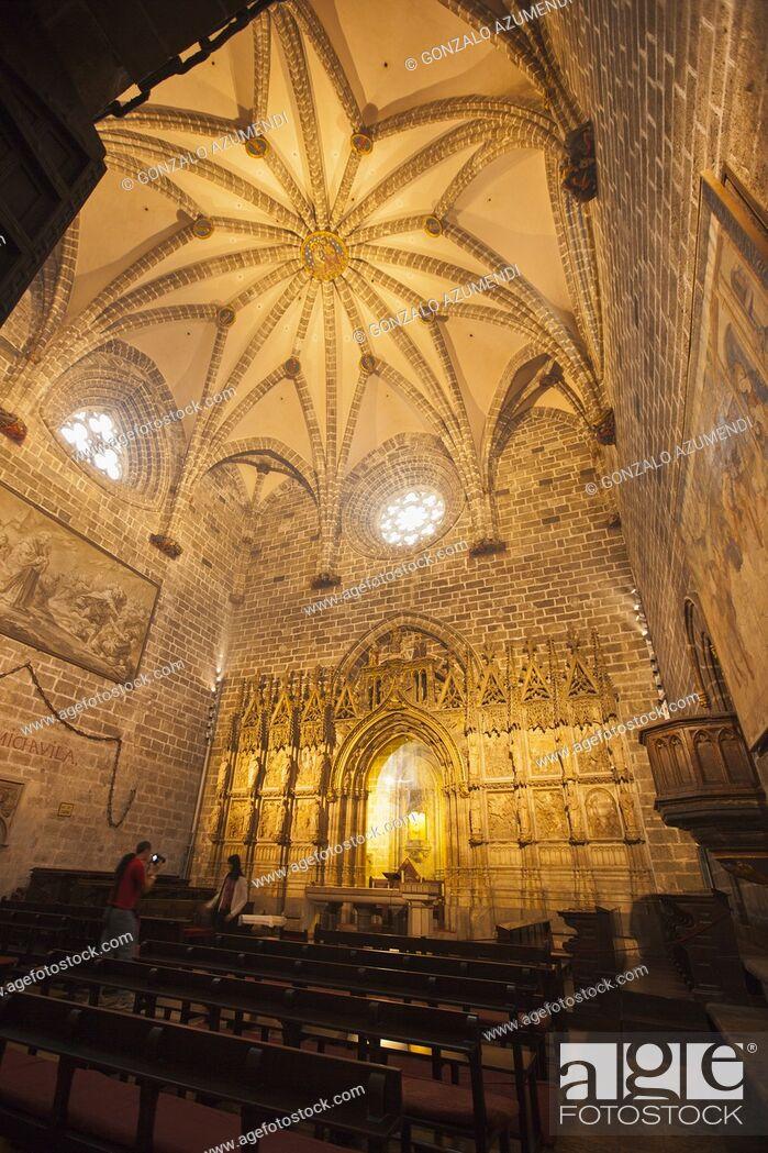 Stock Photo: Chapel of the Holy Chalice or the Holy Grial. Santa Maria de Valencia Cathedral. Valencia. Comunidad Valenciana. Spain.