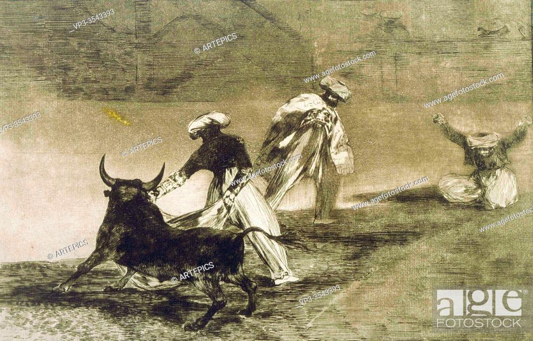 Imagen: Francisco José de Goya - They Play Another with the Cape. . . from L.