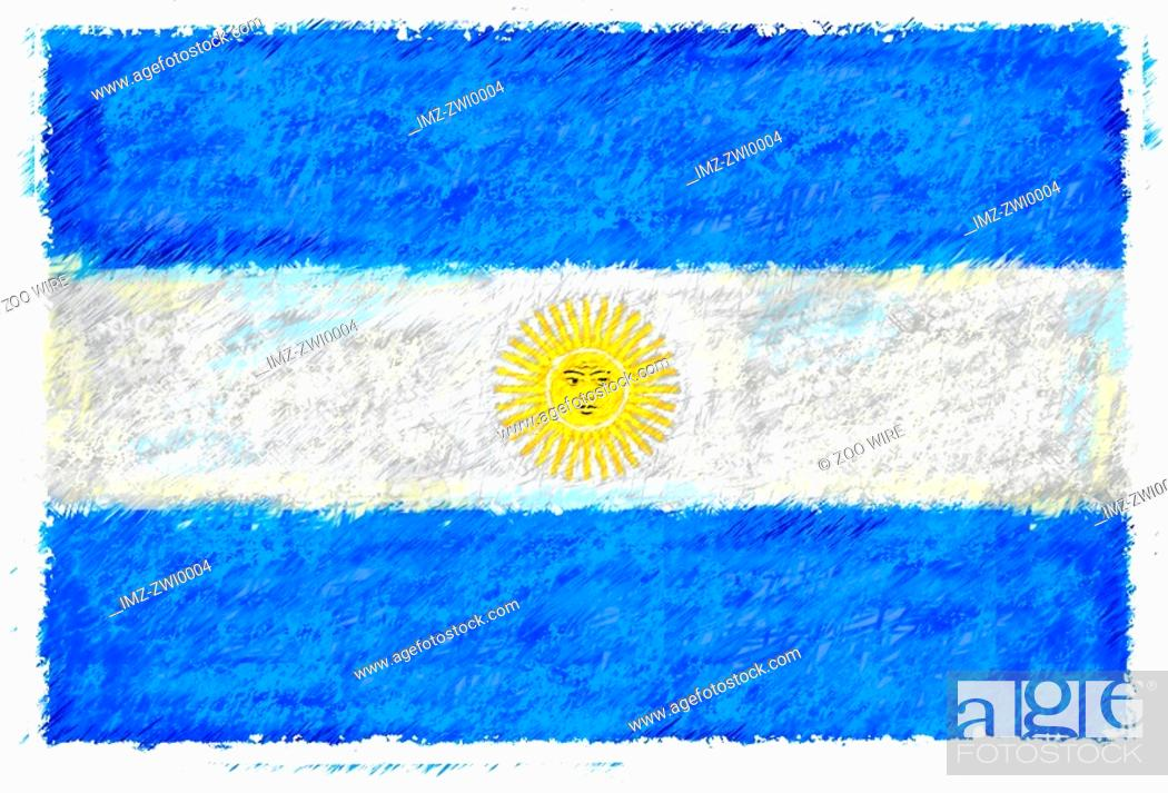 Stock Photo: Flag of Argentina.