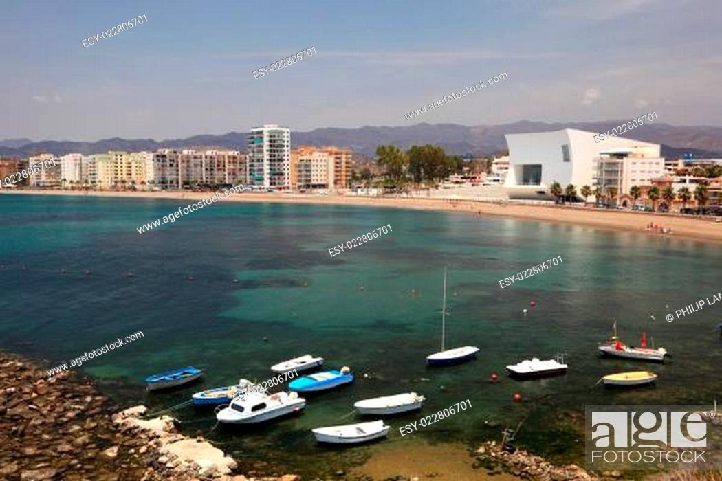 Stock Photo: Mediterranean town Aguilas. Province of Murcia, Spain.