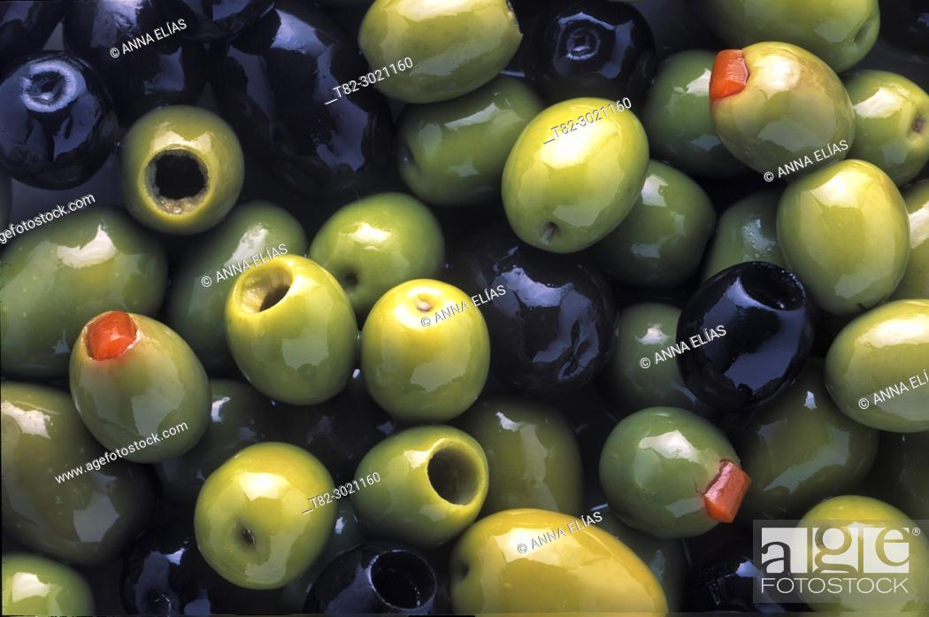 Stock Photo: close-up varied table olives, Andalusia, Spain Europe.