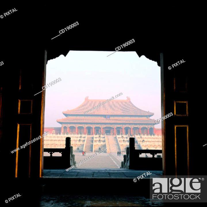 Stock Photo: The Supreme Harmony Hall. Imperial Palace. Beijing. China.