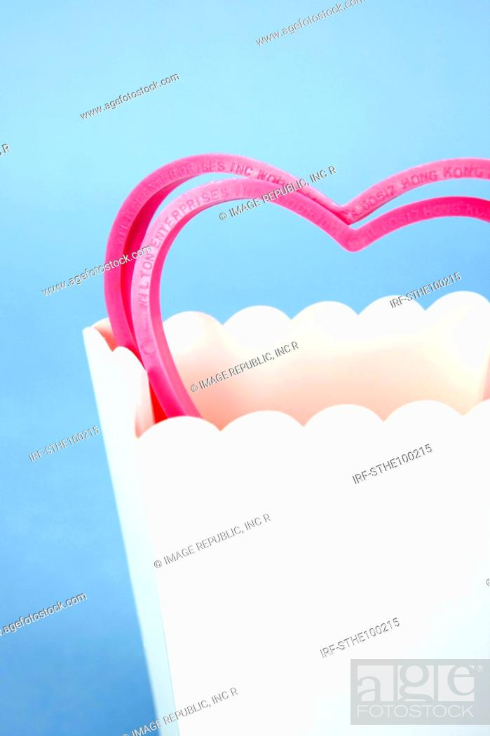 Stock Photo: heart shape in the paper bag.