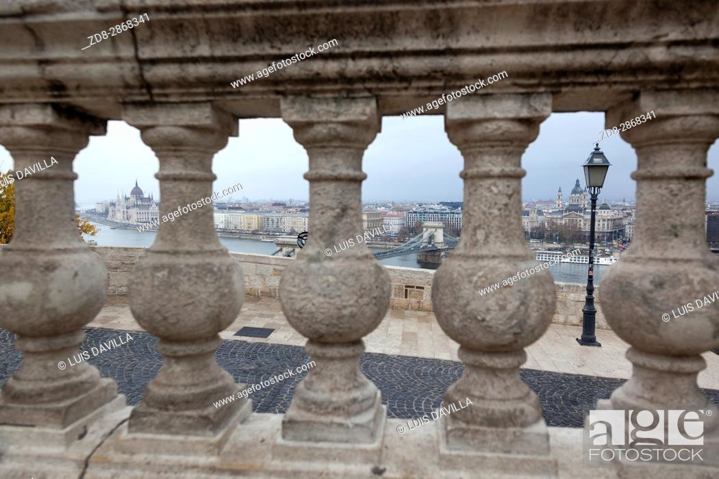 Stock Photo: Budapest from Palace of Buda. Budapest.
