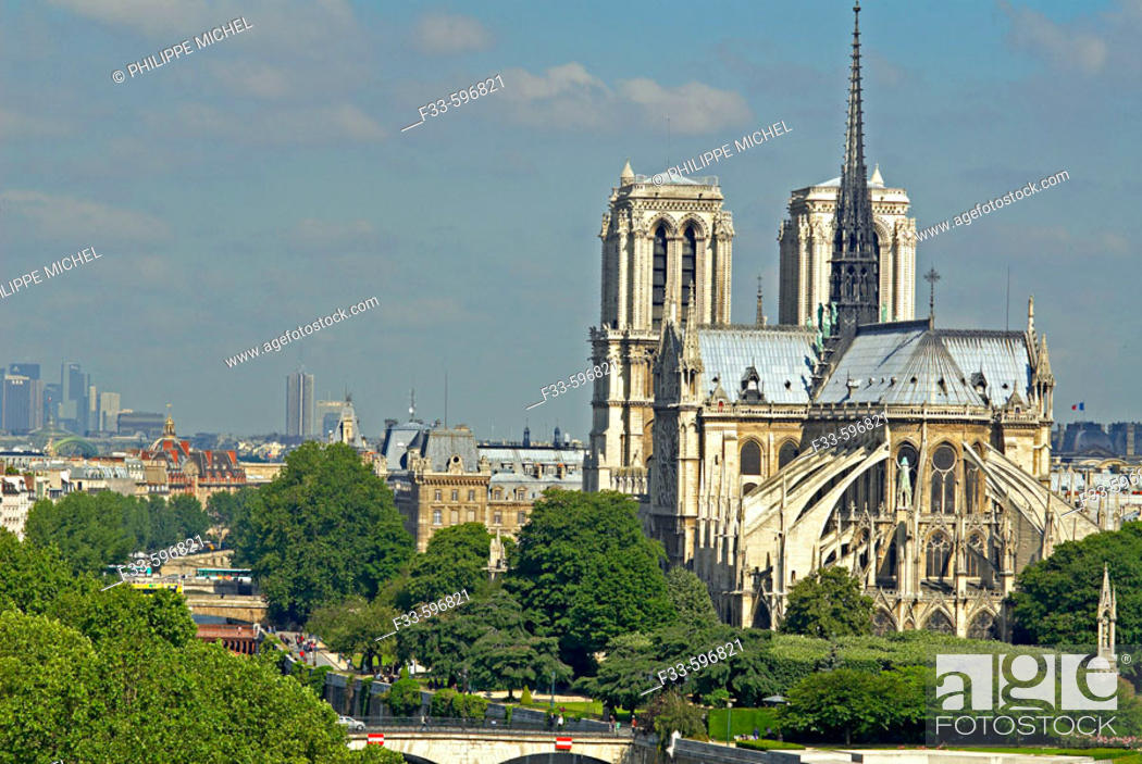 Stock Photo: Notre Dame cathedral, Paris. France.