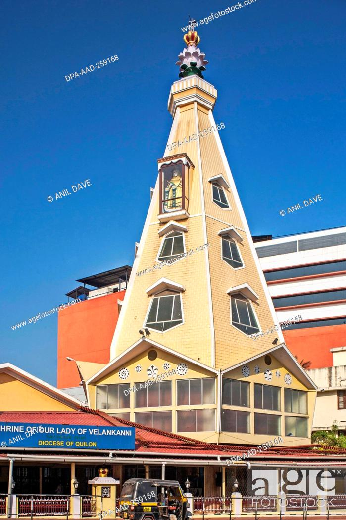 velankanni matha church kollam kerala india asia stock photo