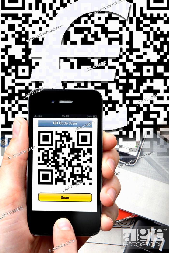 QR-code reader, Quick Response Code, reading a QR code with a
