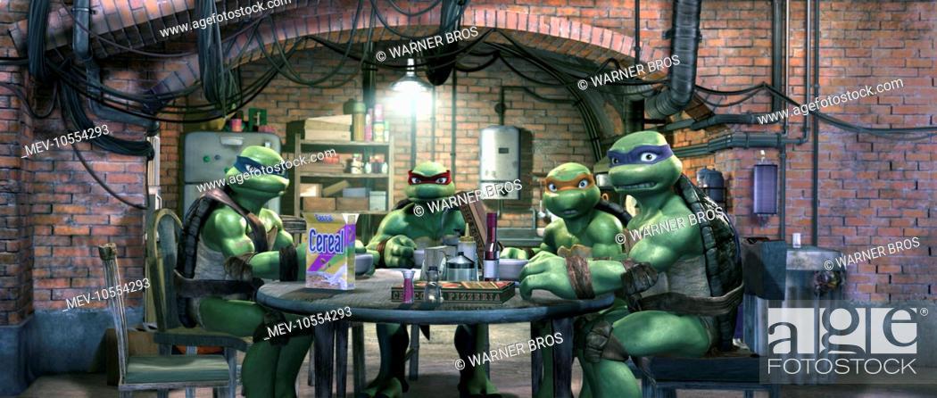 Tmnt Leonardo Raphael Michelangelo And Donatello Tmnt Stock