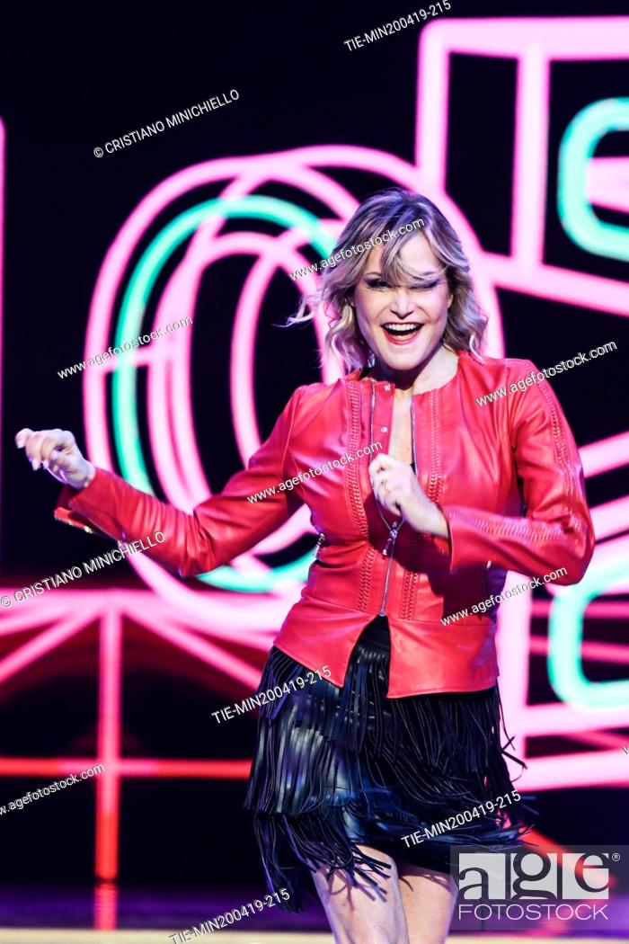 Imagen: Simona Ventura during the performance at the tv show Ballando con le stelle (Dancing with the stars) Rome, ITALY-20-04-2019.
