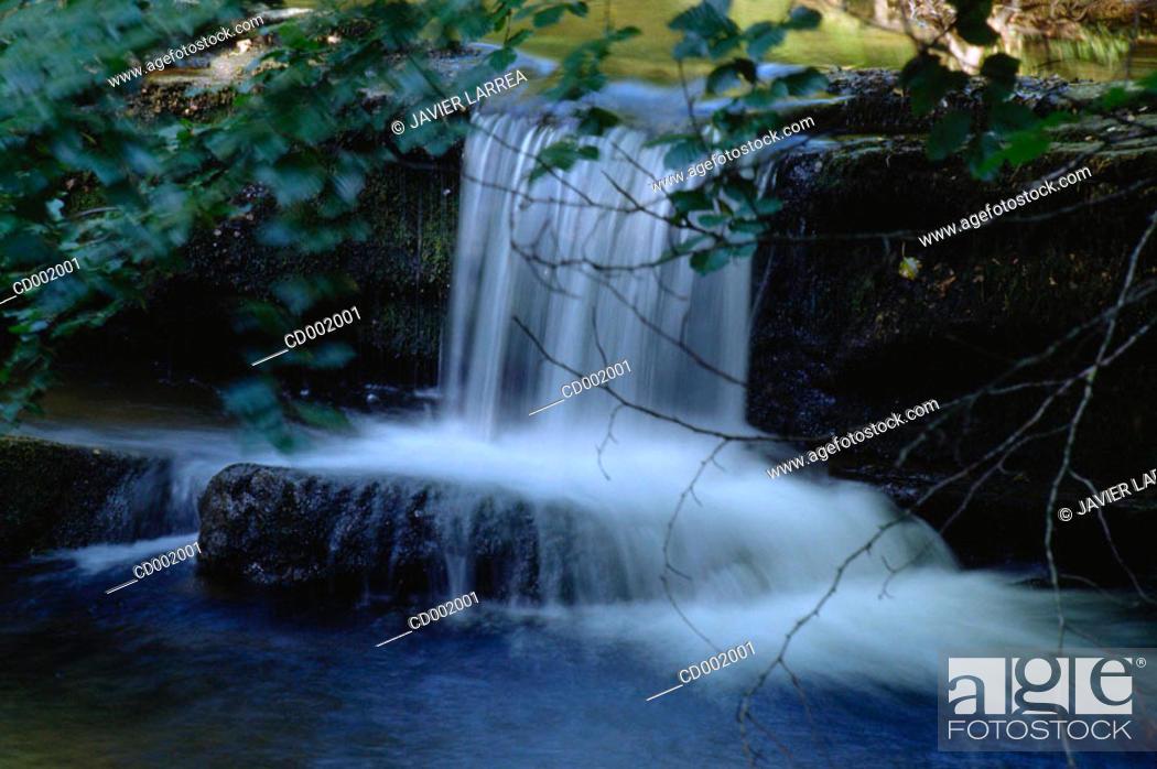 Stock Photo: Alzania River. Sierra de Aitzgorri. Guipúzcoa. Spain.