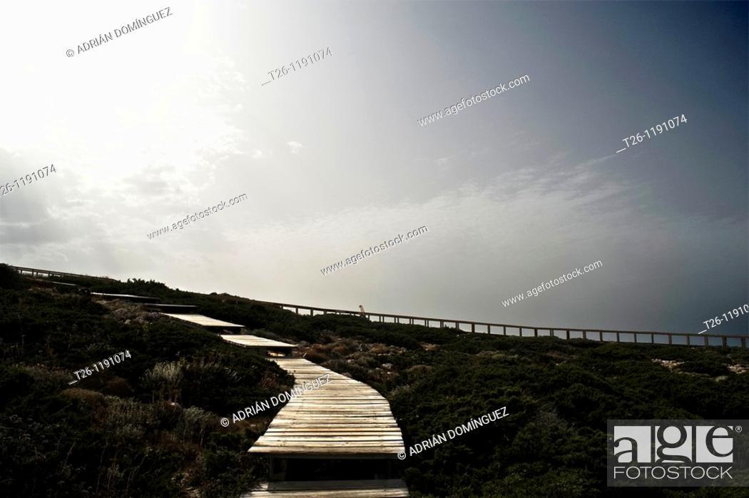 Stock Photo: Paths to the beach. Alentejo, Portugal.