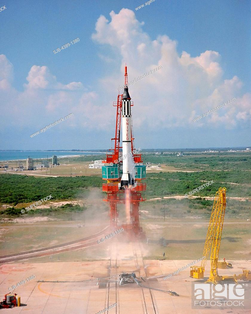 Stock Photo: Launch of Freedom 7.