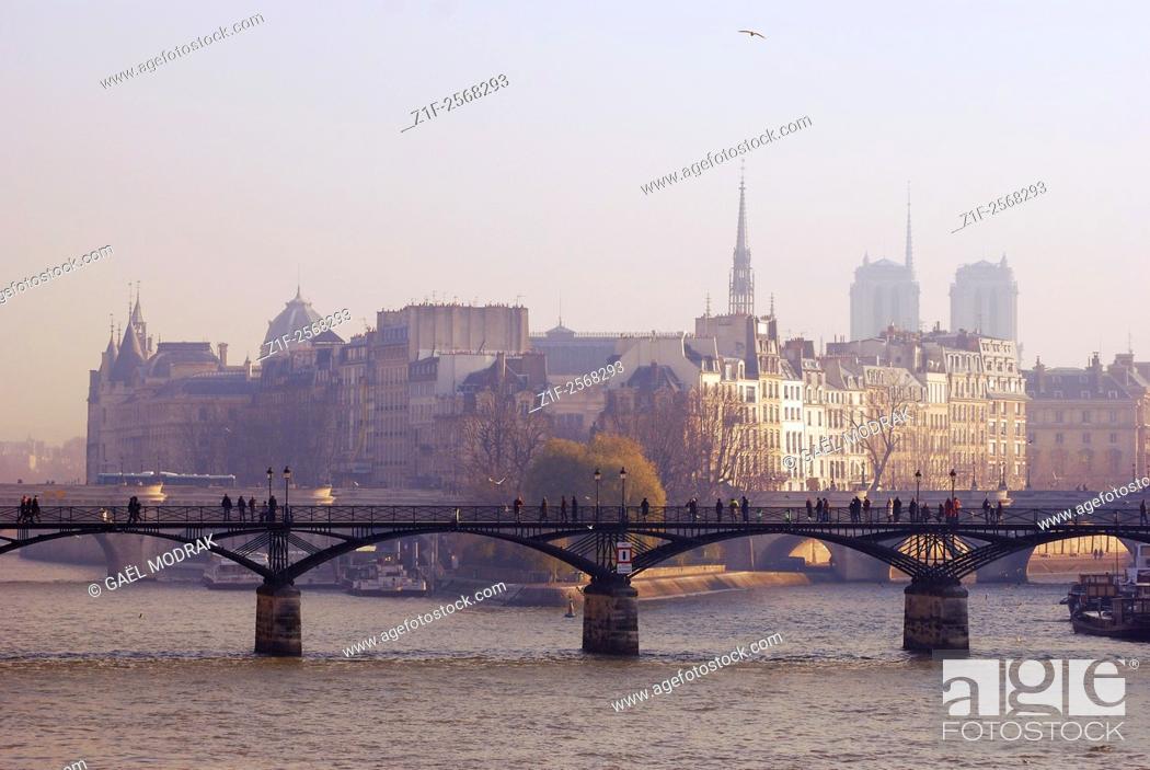 Stock Photo: Pont des Arts in Paris.