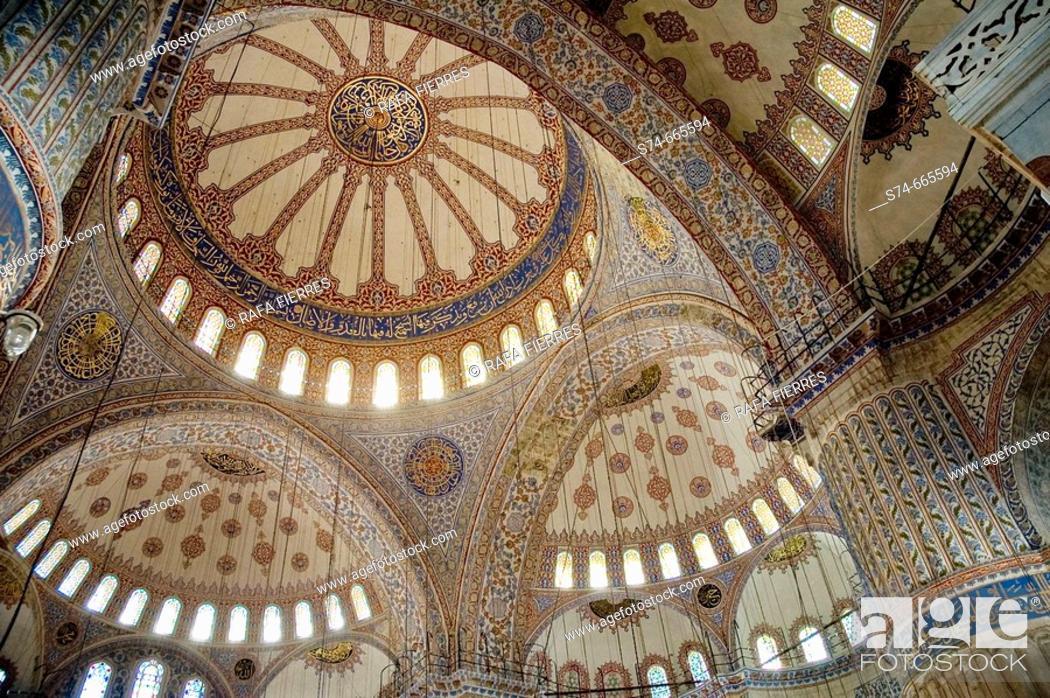 Stock Photo: Blue Mosque, interior. Istanbul. Turkey.