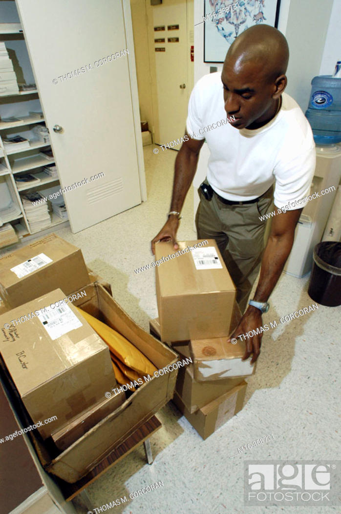 Stock Photo: Mailroom ups.