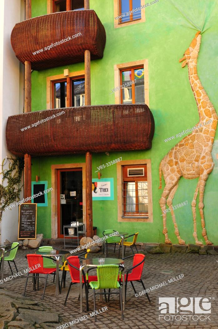 Stock Photo: The Kunstpassage is the heart of Dresden Neustadts artists, bohèmes and creatives.