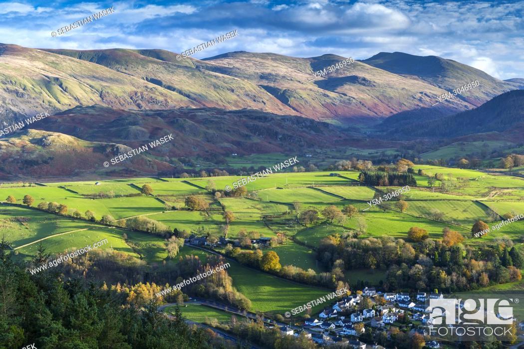 Stock Photo: View from Latrigg towards High Rigg, Lake District National Park, Cumbria, England, United Kingdom, Europe.
