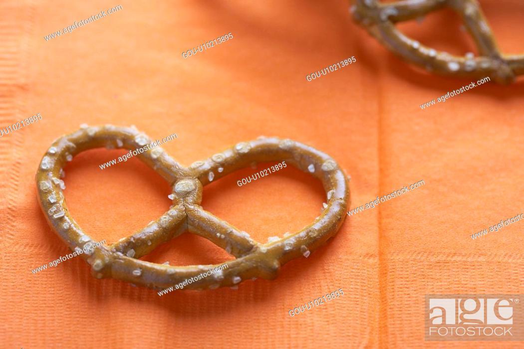 Stock Photo: Salted pretzel.