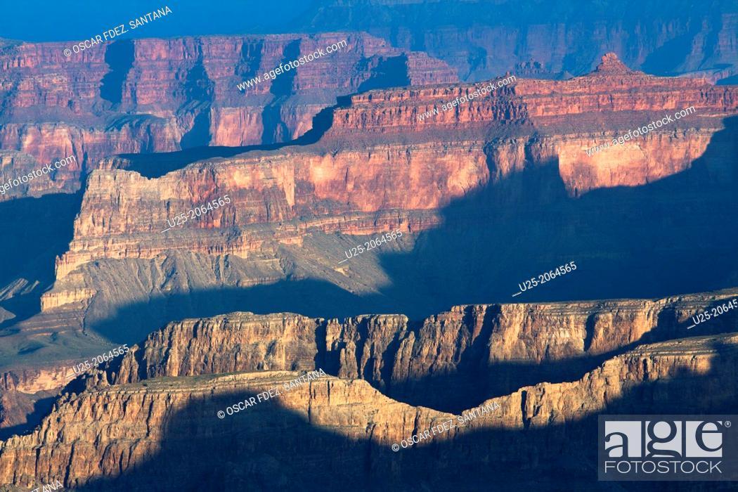 Stock Photo: South Rim, Grand Canyon National Park, Tusayan, Arizona, USA.