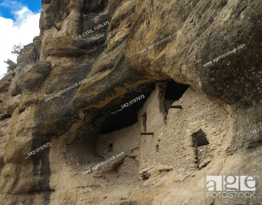 Photo de stock: Gila Cliff Dwellings Gila National Forest , New Mexico, historic archeological site.