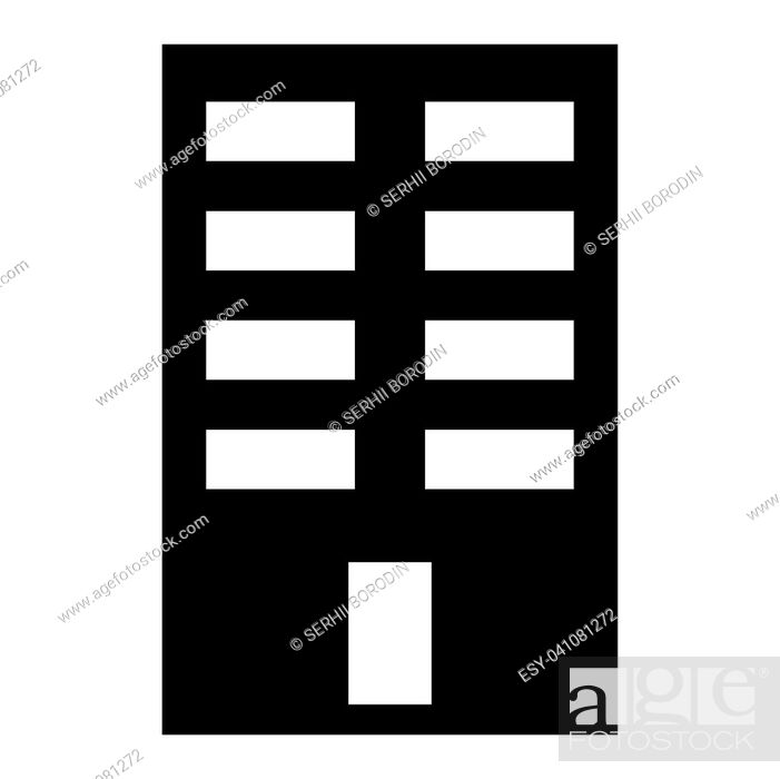 Stock Vector: Building it is the black color icon .