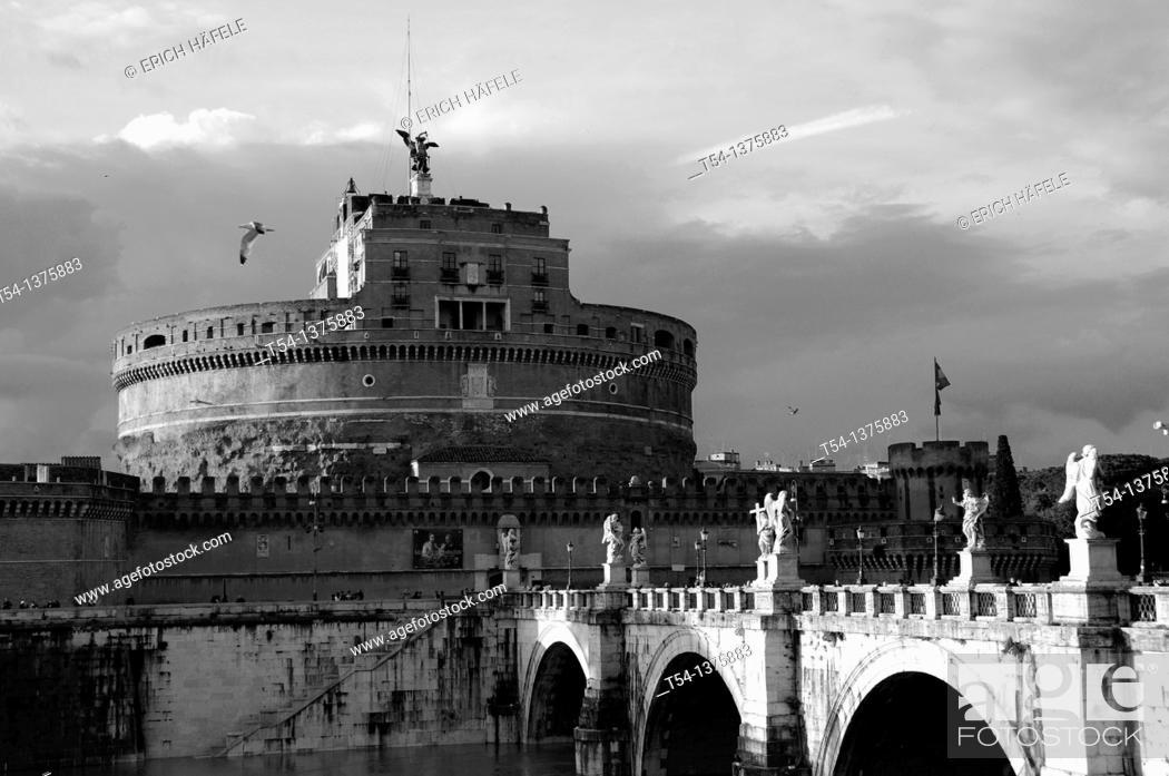 Stock Photo: Castel Sant'Angelo in Rome.