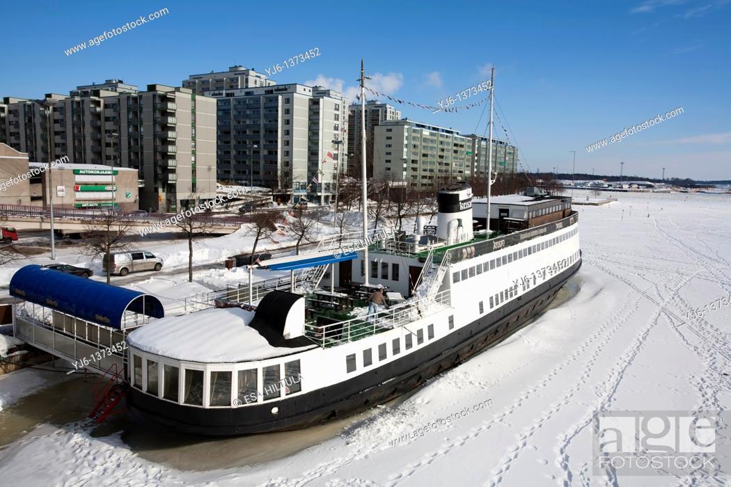 Stock Photo: winter scene in Helsinki Finland.