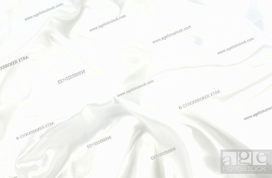 Stock Photo: Texture background of white satin.