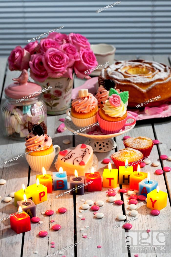 Excellent Muffins Birthday Cake Cup Cakes Roses Lighted Birthday Candles Funny Birthday Cards Online Eattedamsfinfo