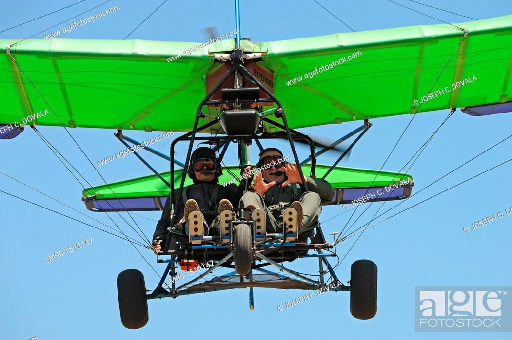 Stock Photo: Introduction to ultralight flying, Camarillo Airport, Camarillo California, USA.