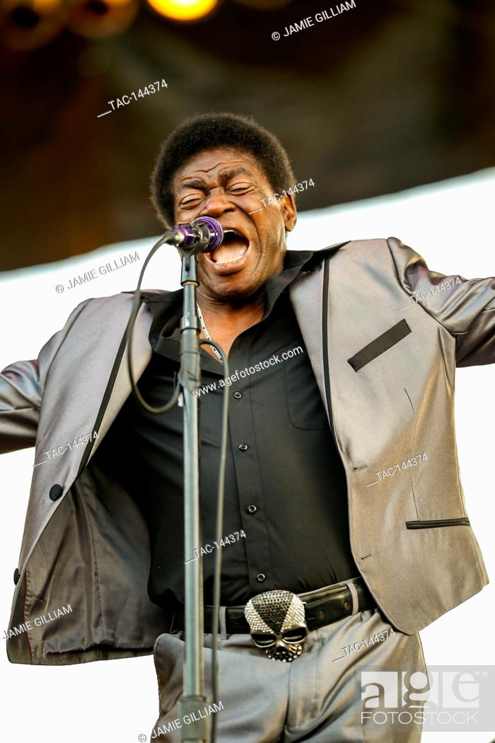 Stock Photo: Charles Bradley performs at the 2017 Beale Street Music Festival at Tom Lee Park in Memphis, Tenn. on May 5, 2017.