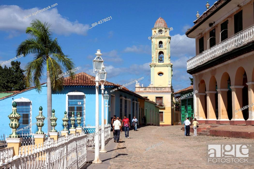 Museo Romantico.Street And Colorful Houses To The Right Museo Romantico At The
