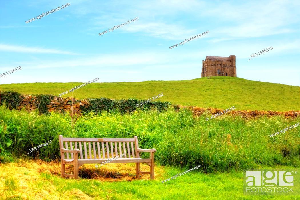 Stock Photo: St Catherine's Chapel, Abbotsbury, Dorset, United Kingdom.
