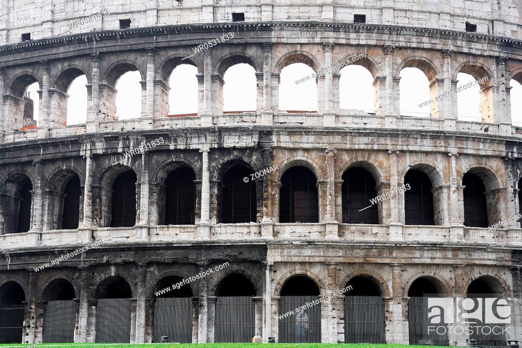 Stock Photo: Coloseum Wall.