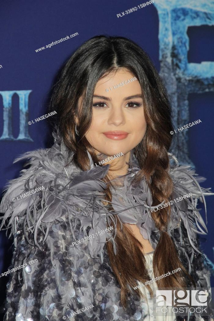 "Stock Photo: Selena Gomez 11/07/2019 The World Premiere of """"Frozen 2"""" held at the Dolby Theatre in Los Angeles, CA. Photo by I. Hasegawa / HNW / PictureLux."