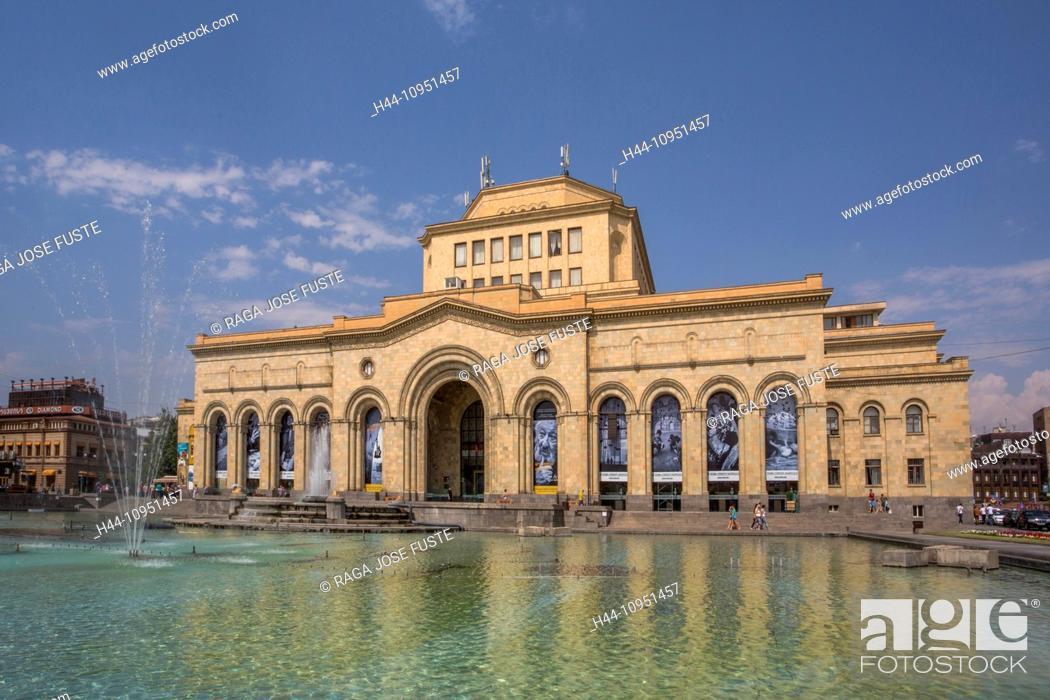 Stock Photo: Armenia, South Caucasus, Caucasus, Eurasia, building, History, Gallery, Republic, Yerevan, architecture, downtown, fountain, museum, national, square.