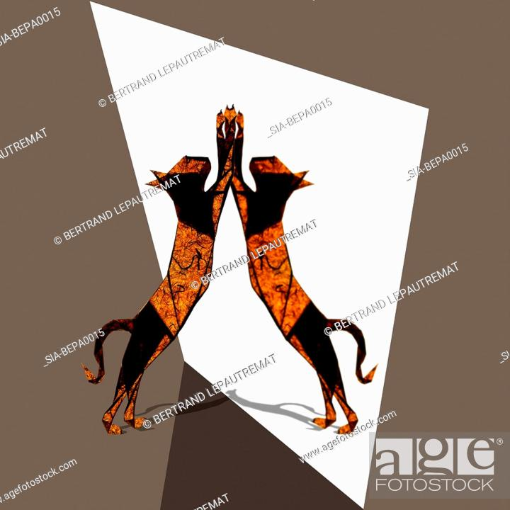 Imagen: Two abstract cats.