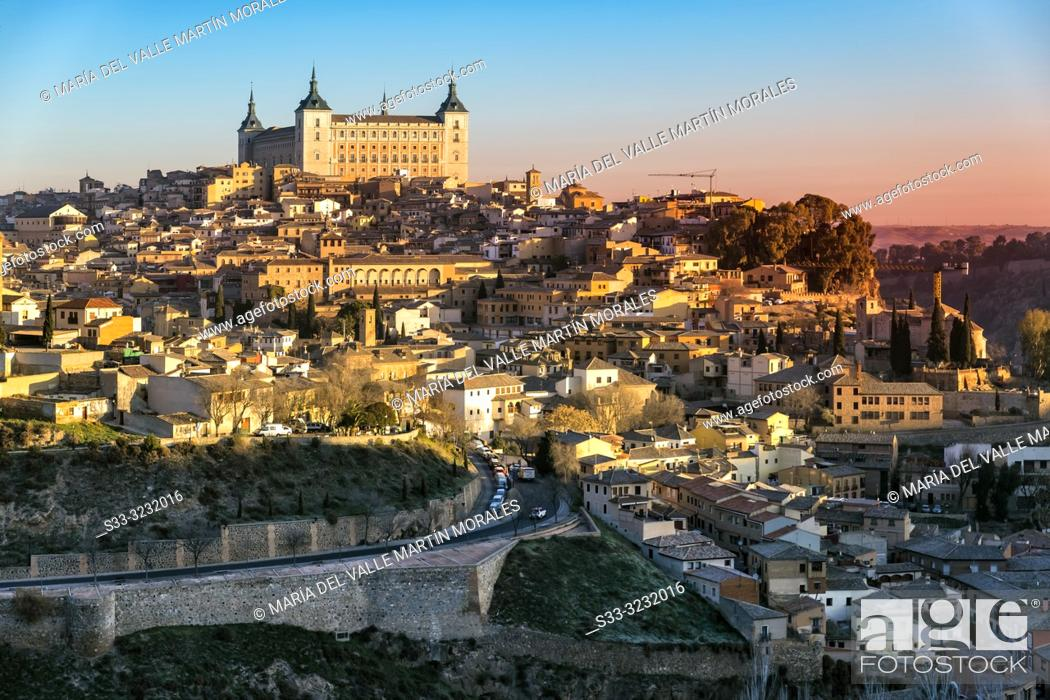 Stock Photo: Alcazar of Toledo early in the morning. Spain. Europe.