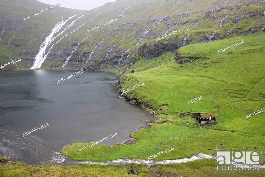 Stock Photo: Faroes, Streymoy, Saksun, scenery.