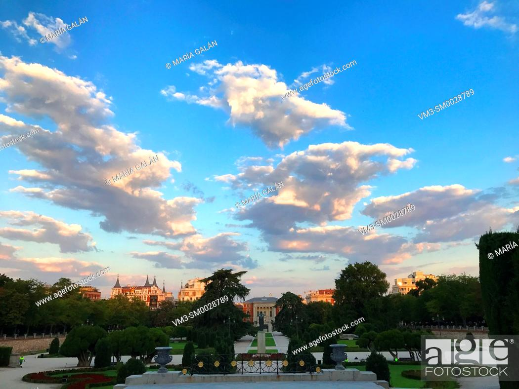 Stock Photo: El Parterre gardens. El Retiro park, Madrid, Spain.