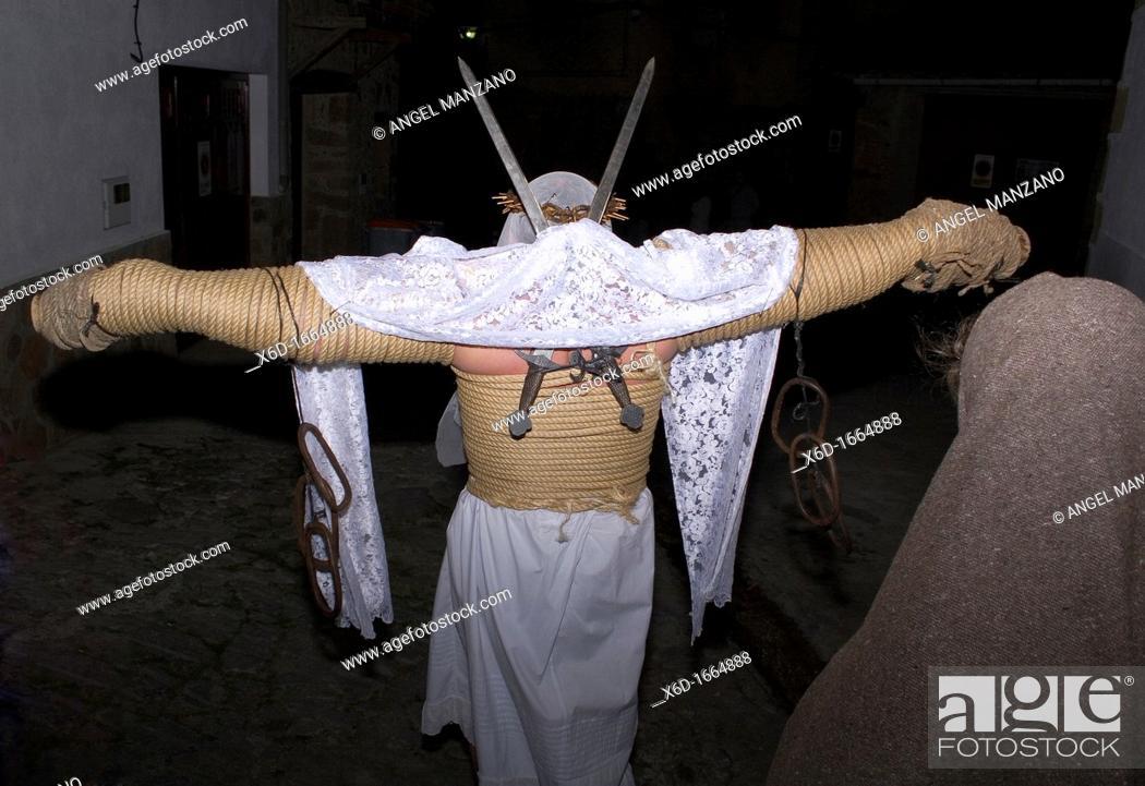 Los Empalaos Holy Week Valverde De La Vera Caceres Spain Stock