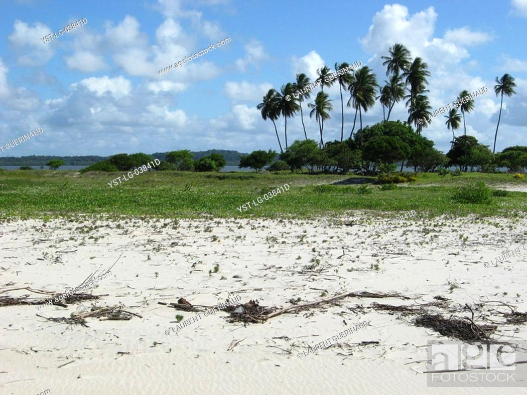 Stock Photo: Beach, Landscape, São Paulo Hill, Salvador, Bahia, Brazil.